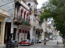 Gataplats, havannacigarr, Kuba Royaltyfri Bild