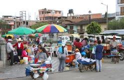 Gataplats i Cajamarca, Peru Royaltyfri Fotografi