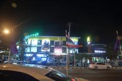 Gataplats i Chiang Mai, Thailand fotografering för bildbyråer