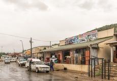 Gataplats i den Tugela färjan i det Kwazulu Natal landskapet arkivfoton