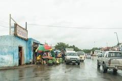 Gataplats i den Tugela färjan i det Kwazulu Natal landskapet arkivbilder