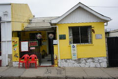 Gataplats i den valparaiso chilen Arkivbild