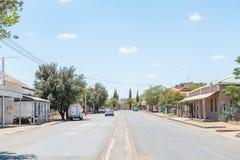 Gataplats i Fauresmith Arkivfoto