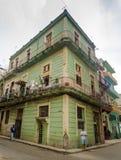 Gataplats i gammala Havana Royaltyfria Foton