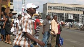 Gataplats i Harare, Zimbabwe royaltyfri fotografi