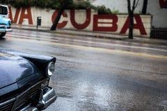 Gataplats i havannacigarren, Kuba Arkivfoto