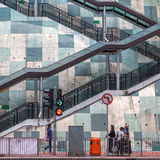 Gataplats i Kowloon, Hong Kong Fotografering för Bildbyråer