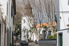 Gataplats i Machico på madeira royaltyfria bilder