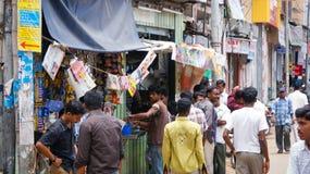 Gataplats i Madurai, Indien Arkivbild