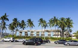 Gataplats i Miami Arkivbild