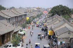 Gataplats i Pingyao, Kina arkivfoton