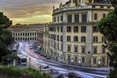 Gataplats i Rome, Italien Arkivbild