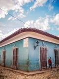 Gataplats i Trinidad Arkivbilder