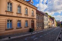 Gataplats i Zagreb, Kroatien royaltyfria bilder