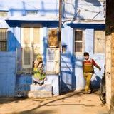 Gataplats, Jodhpur, Indien Arkivbilder