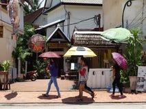 Gataplats på Luang Prabang, Laos Royaltyfria Foton