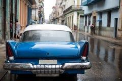 Gataplats på regnig dag i havannacigarren, Kuba Royaltyfria Foton
