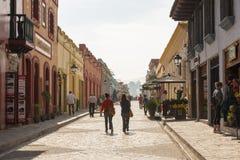 Gataplats San Cristobal De Las Casas, Mexico fotografering för bildbyråer