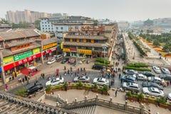 Gataplats Xi'an Kina Arkivfoton