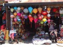 Gataplatser från Hoi An, Vietnam Arkivbild