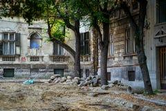Gatarenovering i Belgrade Royaltyfria Bilder