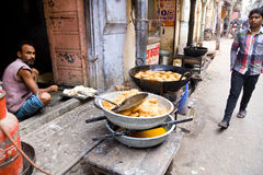 Gatarestaurang, Rajasthan, Indien Royaltyfri Bild