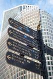 Gatariktningen undertecknar in Haag, Nederländerna Arkivbild