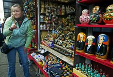 gatasäljare Royaltyfri Fotografi