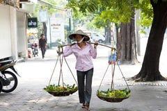 Gatasäljare i Hanoi Royaltyfri Fotografi