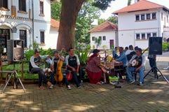 Gatasångare Busker i Lawang Sewu Semarang arkivfoton