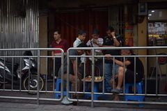 Gataschack, Bangkok arkivfoto
