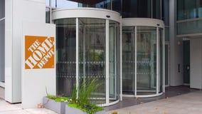 Gatasignagebräde med den Home Depot logoen byggande modernt kontor Redaktörs- tolkning 3D Arkivbilder