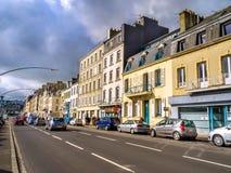 Gatasikt av Cherbourg-octeville, Frankrike Arkivfoto