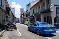 Gatasikt av den Amoy gatan i Singapore Arkivbilder