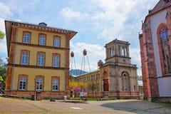 Gatasikt av den mineraliska termiska brunnsorten i Baden-Baden Royaltyfria Foton