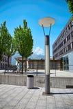 Gatasikt av den Vaduz staden, Liechtenstein Arkivbild