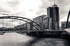Gatasikt av i stadens centrum Hamburg, Tyskland Arkivbild