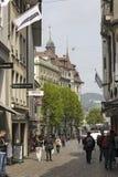 Gatasikt av Lucerne Fotografering för Bildbyråer