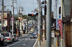 Gatasikt av Nara Japan Royaltyfri Bild