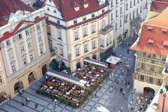 Gatasikt av Prague Arkivbilder