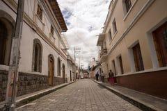 Gatasikt av San Antonio de Ibarra Arkivfoton