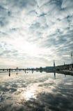 Gatasikt av stället De La Börs i den Bordeaux staden Arkivbilder