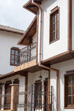 Gatasikt av typisk bulgarisk arkitektur, Tryavna Fotografering för Bildbyråer
