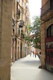 Gatasikt i Barcelona, Spanien Royaltyfria Bilder