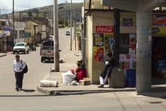 Gatasikt i centrala Ecuador Royaltyfri Bild