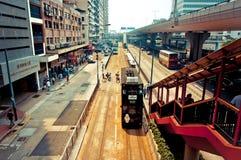Gatasikt i glåmiga Chai, Hong Kong Royaltyfria Bilder