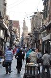 Gatasikt i Kairo Royaltyfri Bild