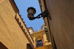 Gatasikt i Malaga Spanien Arkivbild