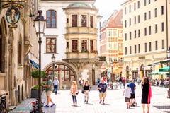 Gatasikt i Munich Royaltyfri Foto