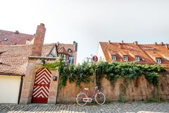 Gatasikt i Nurnberg, Tyskland fotografering för bildbyråer